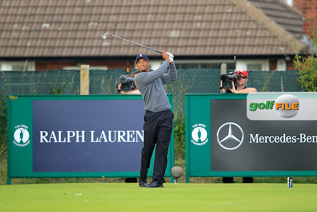 Tiger Woods (USA) tees off the 15th tee during Friday's Round 2 of the 141st Open Championship at Royal Lytham & St.Annes, England 20th July 2012 (Photo Eoin Clarke/www.golffile.ie)