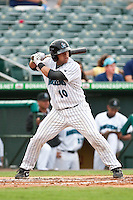 May 1 2010: Jose Ceballos (10) of the Jupiter Hammerheads  during a game vs. the Palm Beach Cardinals at Roger Dean Stadium in Jupiter, Florida. Palm Beach, the Florida State League High-A affiliate of the St. Louis Cardnials, won the game against Jupiter, affiliate of the Florida Marlins, by the score of 5-4  Photo By Scott Jontes/Four Seam Images