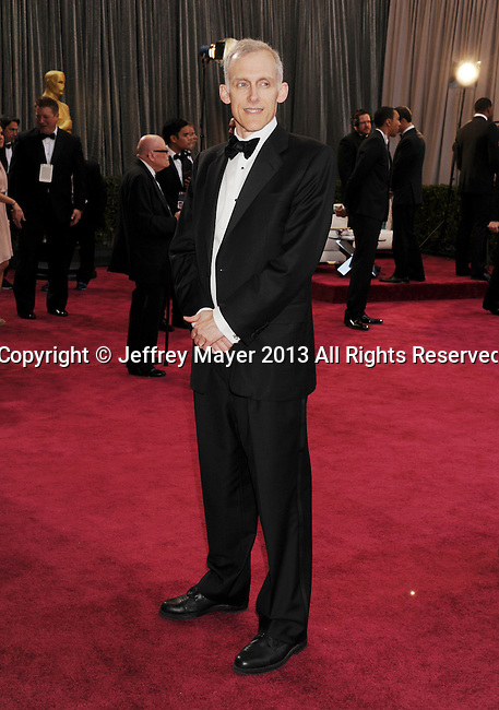 LOS ANGELES, CA - FEBRUARY 24: Tim Squyres arrives at the 85th Annual Academy Awards at Dolby Theatre on February 24, 2013 in Hollywood, California.
