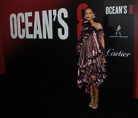 NEW YORK, NY - June 5: Rihanna attends 'Ocean's 8' World Premiere at Alice Tully Hall on June 5, 2018 in New York City. <br /> CAP/MPI/JP<br /> &copy;JP/MPI/Capital Pictures