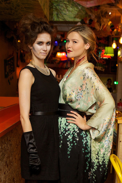 Jade Williams (Sunday Girl) and Amber Atherton from Made in Chelsea at TheMy Flash Trash Halloween party at Barrio Central, London