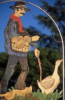 Europe/France/Aquitaine/24/Dordogne/Vallée de la Dordogne/Périgord/Périgord Noir/Env de La Roque-Gageac: Enseigne pour les produits du terroir à base d'oie