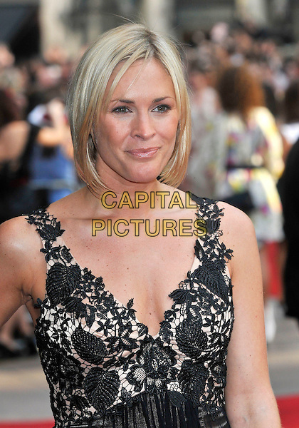"JENNI FALCONER .Red Carpet Arrivals at the ""Sex And The City"" Movie World Premiere, Odeon Leicester Square, London, England, UK,.May 12th 2008..portrait headshot black lace top cleavage .CAP/PL.©Phil Loftus/Capital Pictures"