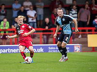 Christian Scales of Crawley Town during the Sky Bet League 2 match between Crawley Town and Wycombe Wanderers at Checkatrade.com Stadium, Crawley, England on 29 August 2015. Photo by Liam McAvoy.