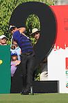 Dubai World Championship Golf. Earth Course,.Jumeirah Golf Estate, Dubai, U.A.E...Camilo Villegas teeing off from the 2nd tee during the third round of the Dubai World Golf championship..Photo: Fran Caffrey/www.golffile.ie...