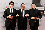 US director Oliver Stone (C) is flanked by Puerto Rican actor Benicio del Toro (L) and US actor John Travolta (R) attend the photocall before the Donosti Awards during the 60th San Sebastian Donostia International Film Festival - Zinemaldia.September 23,2012.(ALTERPHOTOS/ALFAQUI/Acero)