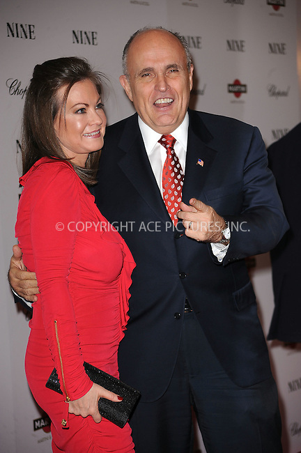 WWW.ACEPIXS.COM . . . . . ....December 15 2009,  New York City....Judith Giuliani and Rudy Giuliani arriving at the New York premiere of 'Nine' at the Ziegfeld Theatre on December 15 2009 in New York City....Please byline: KRISTIN CALLAHAN - ACEPIXS.COM.. . . . . . ..Ace Pictures, Inc:  ..(212) 243-8787 or (646) 679 0430..e-mail: picturedesk@acepixs.com..web: http://www.acepixs.com