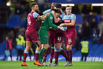 West Ham United goalkeeper David Martin celebrates with Mark Noble of West Ham United at the end of the Premier League match at Stamford Bridge, London. Picture date: 30th November 2019. Picture credit should read: Robin Parker/Sportimage