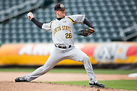 Garrett Brummett #26 of the Wichita State Shockers delivers a pitch during a game against the Missouri State Bears at Hammons Field on May 5, 2013 in Springfield, Missouri. (David Welker/Four Seam Images)