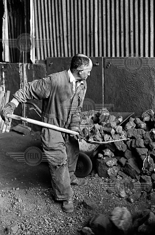 Yemeni worker in George Oxley's Vulcan Foundry, one of the factories that employed Yemeni men who moved from their jobs shovelling coal in the engine rooms of British ships to fuelling the furnaces of Sheffield's steel industry..