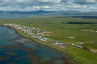 Eyrarbakki séð til norðvesturs. Árborg áður Eyrarbakkahreppur / Eyrarbakki viewing northwest, Arborg former Eyrarbakkahreppur.