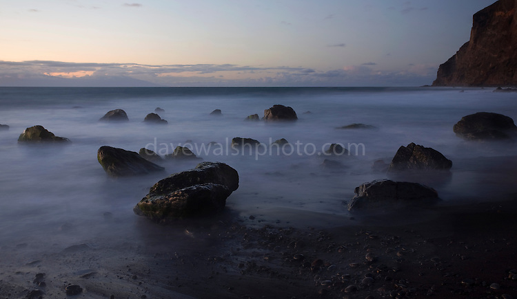 Long exposures of the surft at Playa Del Ingles, La Gomera, Canary Islands