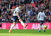 5th November 2017, Wembley Stadium, London England; EPL Premier League football, Tottenham Hotspur versus Crystal Palace; Harry Winks of Tottenham Hotspur taking a shot for attempted goal in the during the 1st half