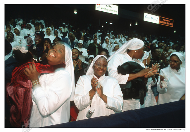 "Nation of Islam: during Mnister Louis Farrakhan""Saviours Day Address"", Univ. of Illinois; Chicago, Illinois, February 23, 2003"