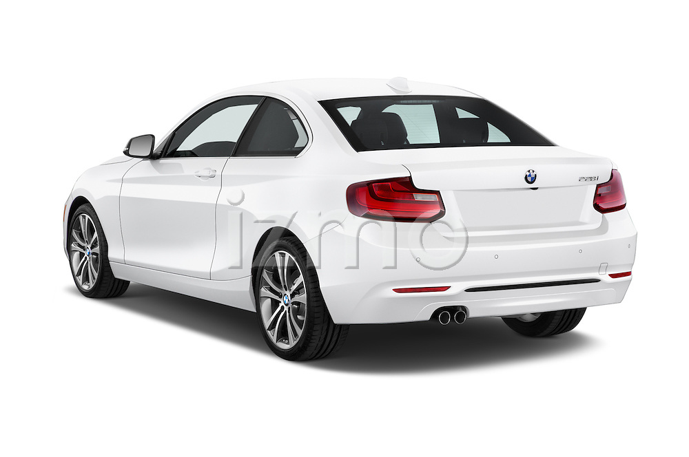 Car pictures of rear three quarter view of a 2015 BMW 2 Series 228I Sport 2 Door Coupe 2WD Angular Rear