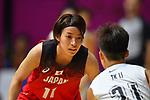 Mio Shinozaki (JPN), <br /> AUGUST 15, 2018 - Basketball : Women's Qualification round match between Hong Kong 44-121 Japan at Gelora Bung Karno Basket Hall A during the 2018 Jakarta Palembang Asian Games in Jakarta, Indonesia.<br /> (Photo by MATSUO.K/AFLO SPORT)