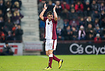 Hearts v St Johnstone...29.01.11  .Rudi Skacel scorer of the only goal applauds the fans as he is subbed.Picture by Graeme Hart..Copyright Perthshire Picture Agency.Tel: 01738 623350  Mobile: 07990 594431