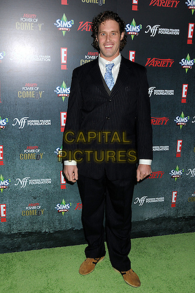 T.J. Miller.Variety's 2nd Annual Power of Comedy Event held at the Hollywood Palladium, Hollywood, California, USA, .19th November 2011..full length suit blue tie white shirt pinstripe .CAP/ADM/BP.©Byron Purvis/AdMedia/Capital Pictures.