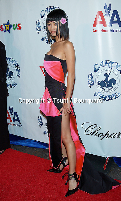 Bai Ling arriving at the Carousel of Hope which support the Barbara Davis Center for Childhood Diabetesat the Beverly Hilton in Los Angeles. October 15, 2002.