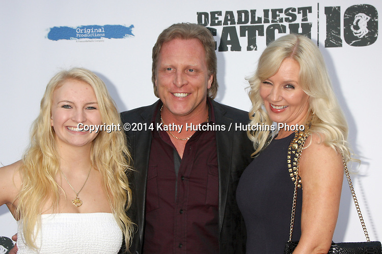 "LOS ANGELES - APR 22:  Mandy Hansen, Sig Hansen, June Hansen at the ""Deadliest Catch"" Season 10 Premiere Screening at ArcLight Hollywood Theaters on April 22, 2014 in Los Angeles, CA"