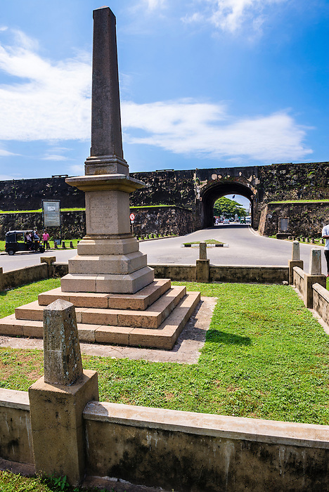 War memorial at the entrance to the Old Town of Galle and its Fortifications, a UNESCO World Heritage Site on the South Coast of Sri Lanka, Asia. This is a photo of the war memorial at the entrance to the Old Town of Galle and its Fortifications, a UNESCO World Heritage Site on the South Coast of Sri Lanka, Asia.