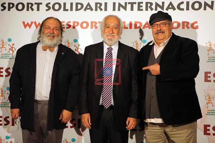 XIe Sopar Solidari d'ESI (Esport Solidari Internacional).<br /> Josep Maldonado, Jaume Matas &amp; Pere Tapies.