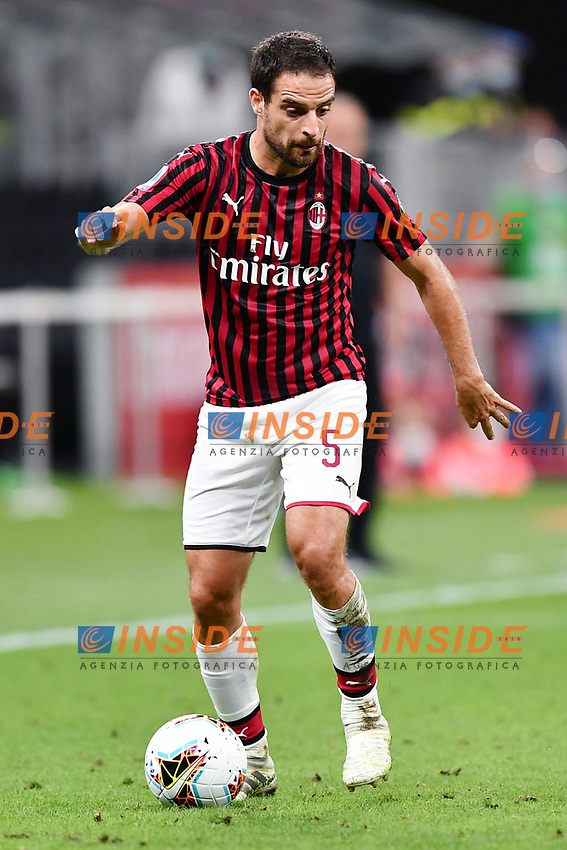 Giacomo Bonaventura of AC Milan during the Serie A football match between AC Milan and Atalanta BC at stadio Giuseppe Meazza in Milano ( Italy ), July 24th, 2020. Play resumes behind closed doors following the outbreak of the coronavirus disease. <br /> Photo Image Sport / Insidefoto