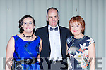 Sharon, James and Rosealeen O'Sullivan Milltown at the Kerry Stars ball in the Malton Hotel on Friday night