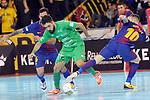 League LNFS 2017/2018 - Game 10.<br /> FC Barcelona Lassa vs CA Osasuna Magna: 3-3.<br /> Joao Batista, Eric Martel &amp; Rivillos.