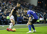 Bolton Wanderers' Pawel Olkowski competing with Sheffield Wednesday's Jordan Thorniley <br /> <br /> Photographer Andrew Kearns/CameraSport<br /> <br /> The EFL Sky Bet Championship - Sheffield Wednesday v Bolton Wanderers - Tuesday 27th November 2018 - Hillsborough - Sheffield<br /> <br /> World Copyright &copy; 2018 CameraSport. All rights reserved. 43 Linden Ave. Countesthorpe. Leicester. England. LE8 5PG - Tel: +44 (0) 116 277 4147 - admin@camerasport.com - www.camerasport.com