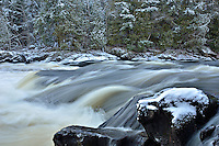 Winter at Piers Gorge on the Menominee River. Norway, MI