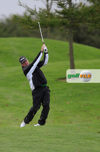 Damien Mooney (Ballyliffin G.C) on the 11th during Round 4 of The Cassidy Golf 103rd Irish PGA Championship in Roganstown Golf Club on Sunday 13th October 2013.<br /> Picture:  Thos Caffrey / www.golffile.ie