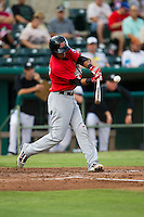 Frisco Roughriders shortstop Luis Sardinas (2) swings the bat in the Texas League baseball game against the San Antonio Missions on August 22, 2013 at the Nelson Wolff Stadium in San Antonio, Texas. Frisco defeated San Antonio 2-1. (Andrew Woolley/Four Seam Images)