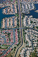 aerial photograph of aqueduct Phoenix, Arizona