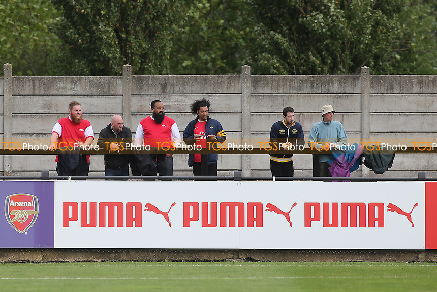 Arsenal fans attend the Under 19 match at Boreham Wood FC during Arsenal Under-19 vs FC Basel Under-19, UEFA Youth League Football at Meadow Park on 28th September 2016