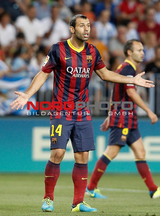 FC Barcelona's Javier Mascherano during La Liga match.August 25,2013. Foto © nph / Acero)