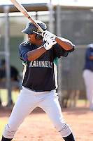 Carlos Peguero, Seattle Mariners 2010 minor league spring training..Photo by:  Bill Mitchell/Four Seam Images.