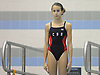 Camille Roberts of Cold Spring Harbor competes in the Nassau County girls' diving championship and state qualifier at Nassau Aquatic Center on Wednesday, November 4, 2015. She won the event and qualified for states with a total score of 449.85.<br /> <br /> James Escher