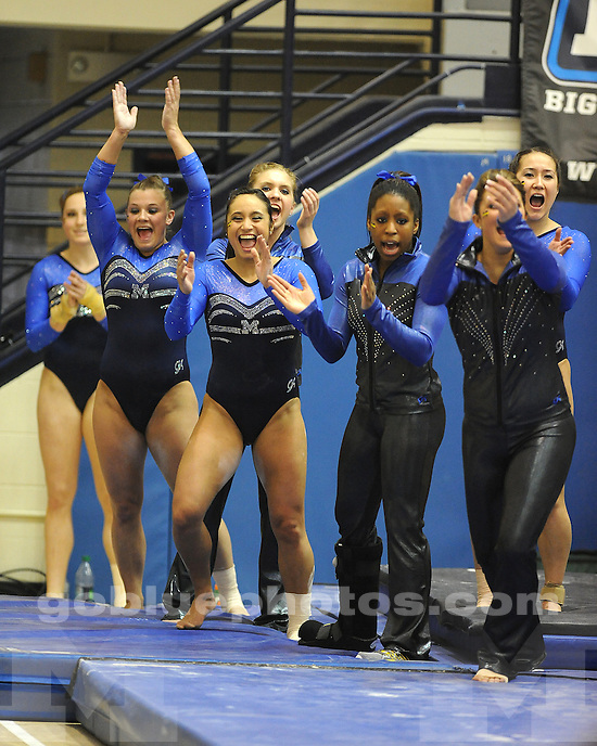 The University of Michigan women's gymnastics team beat Michigan State, 196.025-192.700, at Cliff Keen Arena in Ann Arbor, Mich., on March 16, 2012.