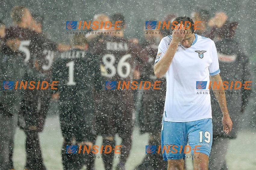 Senad Lulic Lazio.Torino 16/03/2013 Stadio Olimpico Torino.Football Calcio Serie A  2012/13.Torino vs Lazio.Foto Insidefoto Federico Tardito