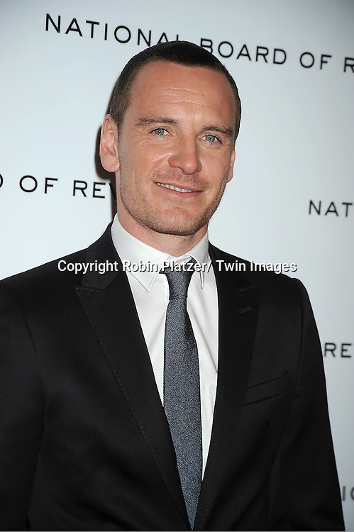 actor Michael Fassbbender attends The National Board of Review Film Awards Gala on January 10, 2012 at Cipriani 42nd Street in New York City.