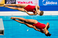 ABEL Jennifer, CITRINI BEAULIEU Melissa CAN<br /> Diving <br /> Women's 3m Synchro Springboard Preliminary<br /> Day 04 17/07/2017 <br /> XVII FINA World Championships Aquatics<br /> Duna Arena Budapest Hungary July 15th - 30th 2017 <br /> Photo @A.Masini/Deepbluemedia/Insidefoto