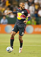 CARSON, CA – May 7, 2011: New York Red Bull forward Thierry Henry (14) looks to pass the ball during the match between LA Galaxy and New York Red Bull at the Home Depot Center, May 7, 2011 in Carson, California. Final score LA Galaxy 1, New York Red Bull 1.