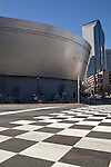 March 6, 2010. Charlotte, North Carolina.. Over the last year, several museums and cultural institutions have opened within a 5 block radius of each other, adding another facet to downtown Charlotte..  The NASCAR Hall of Fame is slated to open in May of 2010 and features checkered flag like crosswalks on the surrounding streets.