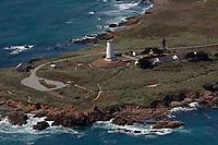 aerial photograph of Piedras Blancas Light Station, Point Piedras Blancas, San Simeon, San Luis Obispo County, California