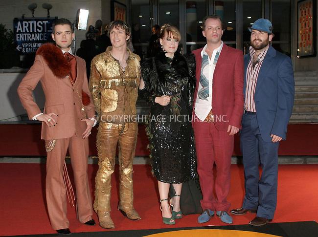 WWW.ACEPIXS.COM . . . . .  ... . . . . US SALES ONLY . . . . .....LONDON, FEBRUARY 9, 2005....Scissor Sisters at the 25th Brit Awards, Earls Court.....Please byline: FAMOUS - ACE PICTURES - F. DUVAL... . . . .  ....Ace Pictures, Inc:  ..Philip Vaughan (646) 769-0430..e-mail: info@acepixs.com..web: http://www.acepixs.com