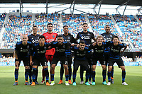 San Jose, CA - Saturday March 31, 2018: San Jose Earthquakes Starting Eleven during a Major League Soccer (MLS) match between the San Jose Earthquakes and New York City FC at Avaya Stadium.