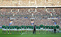 15th March 2014; The Ireland team line up before kick off. RBS Six Nations, France v Ireland, Stade de France, St Denis, Paris. Picture credit: Tommy Grealy/actionshots.ie.