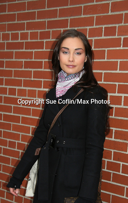 "Ewa Da Cruz ""Vienna Hyatt"" - outside the As The World Turns Studios on February 5, 2010 in Brooklyn, New York. (Photo by Sue Coflin/Max Photos)"