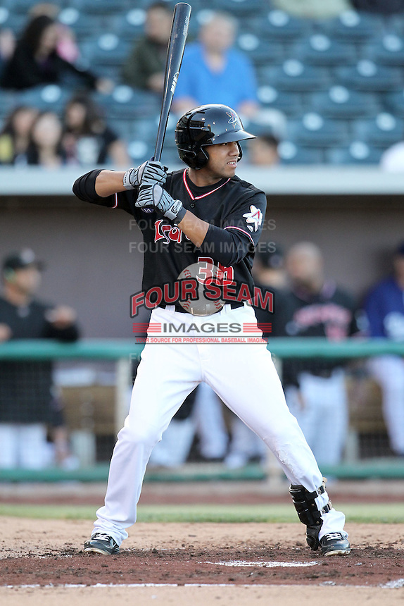 Wilberto Ortiz #36 of the Albuquerque Isotopes plays in a Pacific Coast League game against the Omaha Storm Chasers at Isotopes Park on May 3, 2011  in Albuquerque, New Mexico. .Photo by:  Bill Mitchell/Four Seam Images.